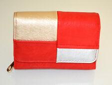 Portefeuille Porte-monnaie or rouge argent femme faux cuir clutch bag wallet G80