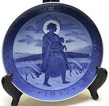 "Vintage Royal Copenhagen 1957 ""The Good Shepherd"" Christmas Plate, 1st Quality"