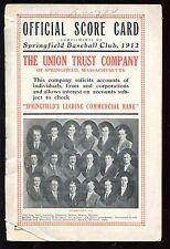 1912 Baseball Scorecard Bridgeport at Springfield