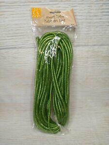 New! 36 FT GREEN Tubing Ribbon Floral Wreath Deco Mesh Embellish CRAFT GRINCH
