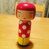 YAYOI KUSAMA DOT KOKESHI ART DECOR VERY RARE COLLECTIBLE LUCIE KAAS WOODEN F/S