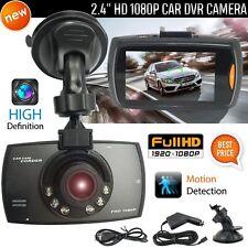 "2.4"" Car DVR 1080P HD Dash Cam Wide Angle Night Vision LCD Camera G Sensor UK"