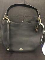 Coach Glovetanned Leather Nomad Satchel 36026 (Black/Light Gold) MSRP: $495