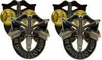 Special Forces DE OPPRESSO LIBER Set PAIR 2PCS Lapel Pins 1 INCH Pin $9.99
