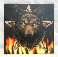 Wolf Head Canvas Print - Lisa Parker 'Fire Wolf' Print - BNIB