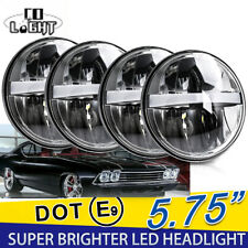 "4PCS 5 3/4"" 5.75"" Projector LED Headlight DRL Hi/Lo Fit For Ford Gran Torino"