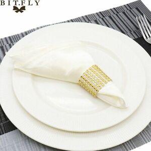 50pcs Satin Fabric Square Table Napkins Wedding Birthday Home Party Handkerchief