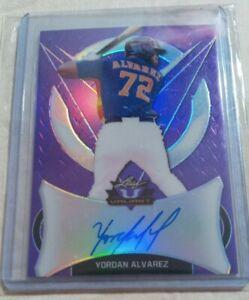 Yordan Alvarez 2019 Leaf Valiant Purple 12/15 On Card Auto Rookie (non chrome)RC