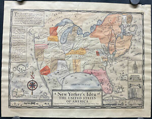 Daniel Wallingford A New Yorker's Idea Of The United States Of America Map 1937