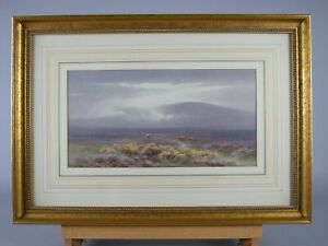 Charles Edward Brittan Jnr (1870-1949), 'A View of Dartmoor'. Signed Watercolour