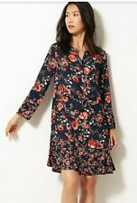 BNWT M&S Collection Navy Floral Dress 12