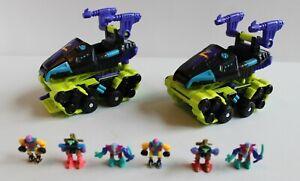 Lot of 2 Galoob Micro Machines Mini ZBots Spybase 7 Fighter & Full Crews 1994