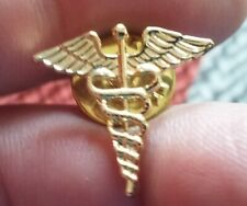 Doctor Medical Caduceus goldtone pin