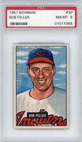 1951 Bowman # 30 Robert Bob Feller Cleveland Indians PSA 8 Near MINT to MINT