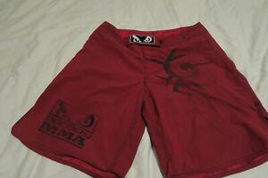 Bad Boy Pro Series BJJ MMA Shorts Red Black 32x9.5 Fighting UFC Combat