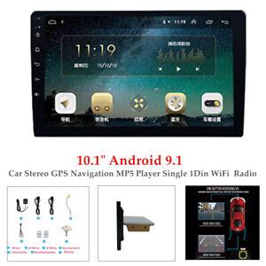 "10.1"" Android 9.1 Car Stereo BT GPS Navi MP5 Player Single 1Din WiFi FM Radio"