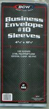 COVER SLEEVES - BUSINESS #10 (4-1/4 X 9 5/8--100PK) (01710)