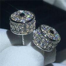 2.50Ct Round-Cut D/VVS1 Diamond Stud Earrings Solid 14K White Gold Finish