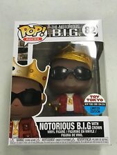 Funko Pop! Rocks Notorious B.I.G Biggie with Crown (Toy Tokyo Sticker) Nycc New