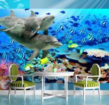 Fototapete Fototapeten Tapeten Natur Wasser Ozean Delphin Fisch 13N072P8