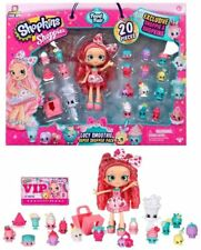 Shopkins Shoppies Food Fair Lucy Smoothie Super Shopper 20 PC Rare Doll Set NEW