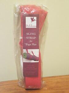 Pelikus Yoga Mat Cotton Canvas Carry Sling Strap - Red