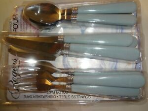 Flatware Blue Handles  11 Pieces By Rogers Never Used Free Shipping