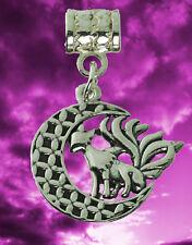 sterling Silver 9 Tail nine Fox Spirit Chinese Japan Goddess Charm European bead
