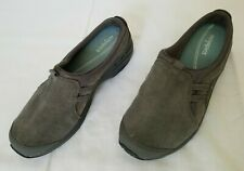 Womens Size 8 Grey Easy Spirit Suede Leather Mules ES7 Tipper preowned