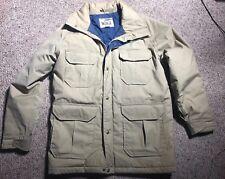 Vintage Woolrich USA M Mens Mountain Parka FIELD BARN Coat Jacket KHAKI POCKETS