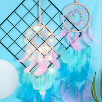 Dream Catcher Net  Lights Feathers Dreamcatcher  Wind Chime Wall Hanging Decor