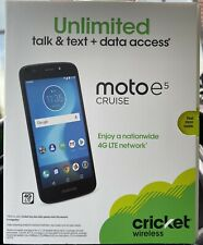 🦗CRICKET MOTO E5 CRUISE 16Gb 4G LTE Android Smartphone - PREPAID (NEW)