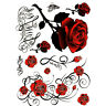 1Sheet Sexy Tattoo Skull Rose Temporary Body Arm Stickers Removable WaterproofBL