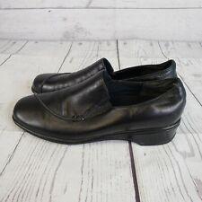 Munro Womens Slip On Shoes Sz 7.5 M Black Walking Wedge