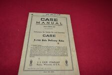 Case Tractor F-170 Side Delivery Rake Operator's Manual Yabe14