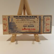 1960 John F. Kennedy Democratic Convention Tickets Full Book 6 Sessions