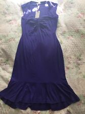 Tried On Once PEPPERBERRY Flared Hem  Purple Dress Size -10 Curvy Really Curvy