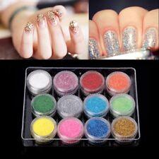 12 Color Laser Glitter Powder Bottle Glitter Dust UV Resin Epoxy For Jewelry DIY