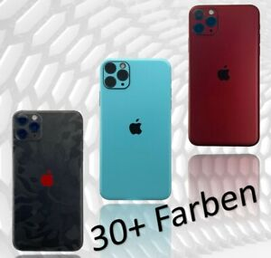 iPhone 11 12 X Pro Max Mini XS Xr  6 7 Skin Folie Case 3M Aufkleber Schutzfolie