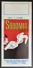 CINEMA-locandina SODOMIA LA VISITA DEL VICINO lorne, machado, bellot, R. LAZZAR