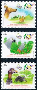 Angola - 2006 - Fauna - Dog & Birds / CPLP - LUBRAPEX