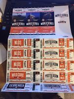 2014 SAN FRANCISCO GIANTS PLAYOFFS WORLD SERIES TICKET STRIP SHEET STUB ROYALS