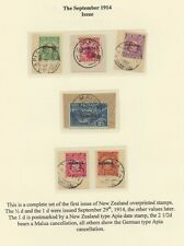 Samoa, 1914 First New Zealand Overprint complete used on clippings, superb