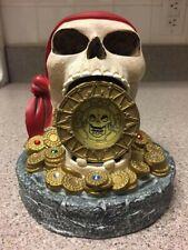 "Rare Discontinued Disney ""Pirates of the Caribbean"" Skull Clock -NIB"