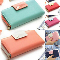 Womens PU Leather Wallets Ladies Clutch Wallet Purse Card Holder Long Handbag