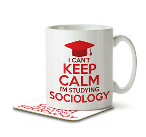 I Can't Keep Calm I'm Studying Sociology - Mug and Coaster by Inky Penguin