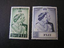 FIJI, SCOTT # 139/140(2). COMPLETE SET 1948 SILVER WEDDING ISSUE MNH