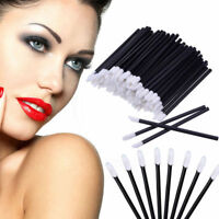 100Pc/set Disposable Lip Brush Gloss Lipstick Wands Applicator Brush Makeup Tool