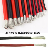 Flexible Soft Silicone Wire Cable 12/14/16/18/20/22 AWG Red Black Good Quality