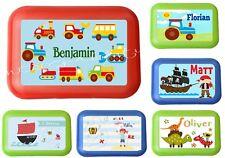 Lunchbox Brotdose für Kinder mit Name Junge viele Motive zur Auswahl Auto